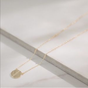 Gold Hammered Pendant | 925 Silver